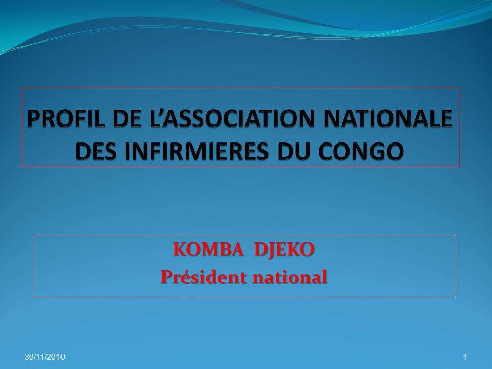 KOMBA DJEKO Président national 30/11/20101