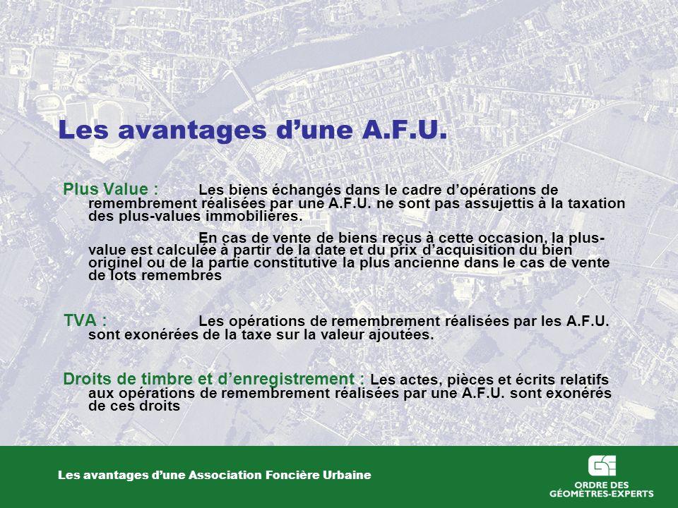 Les avantages dune A.F.U.