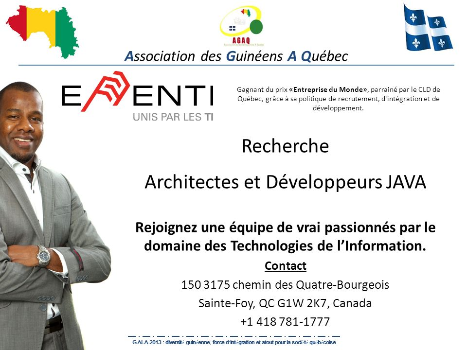 Recherche Architectes et Développeurs JAVA Rejoignez une équipe de vrai passionnés par le domaine des Technologies de lInformation. Contact 150 3175 c