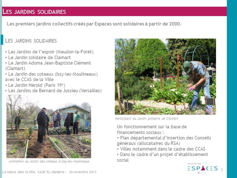 L ES JARDINS SOLIDAIRES Les Jardins de lespoir (Meudon-la-Forêt) Le Jardin solidaire de Clamart Le Jardin Adoma Jean-Baptiste Clément (Clamart) Le Jar