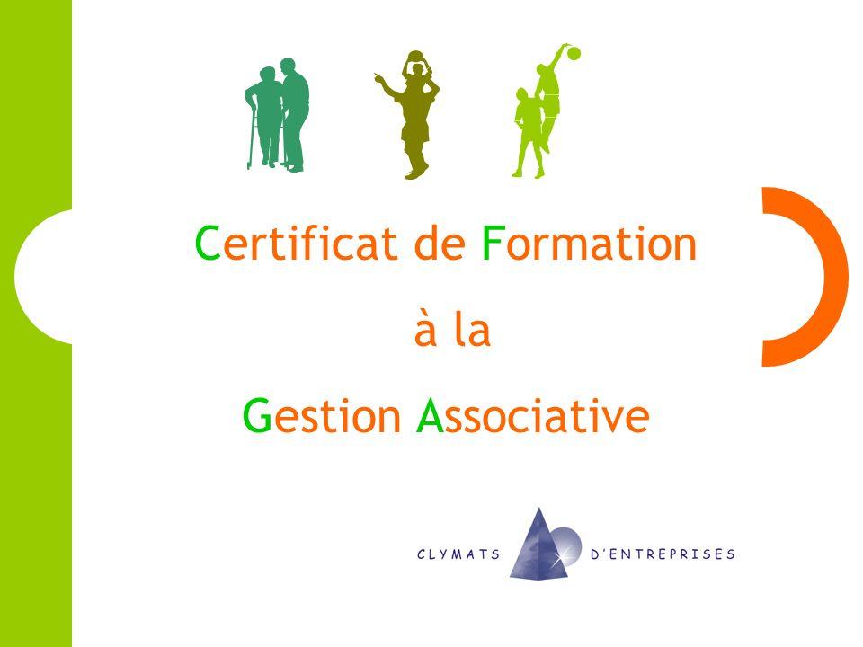 Certificat de Formation à la Gestion Associative