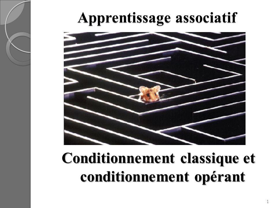 Synthèse Conditionnement classique : Stimulus inconditionnel amène une réponse inconditionnelle.