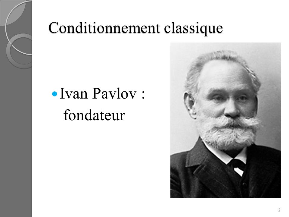 Conditionnement classique Ivan Pavlov : fondateur 3