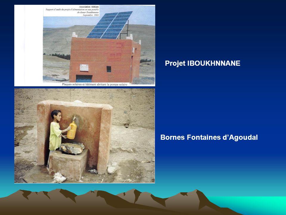 RENFORCEMENT DES INFRASTRUCTURES : Alimentation de village dIboukhnnane en Eau potable. Extension de réseau d'eau potable au village d'Agoudal.