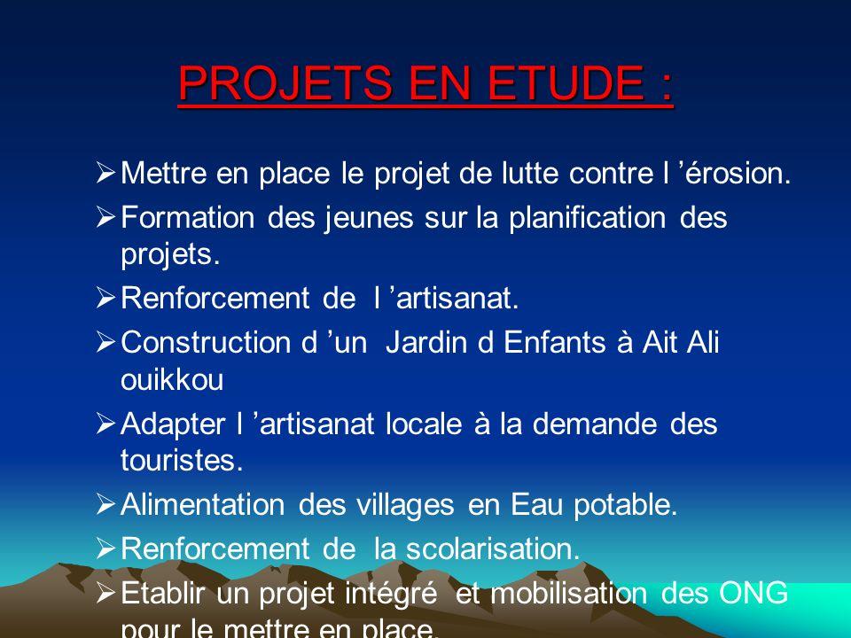 ECOTOURISME: Participation au Forum international de tourisme solidaire à Marseille. Aménagement de la grotte touristique d'Akhiam. Participation de l
