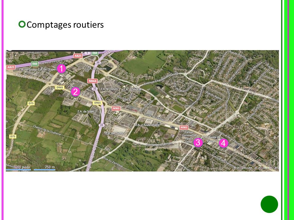 Comptages routiers 1 1 2 2 3 3 4 4