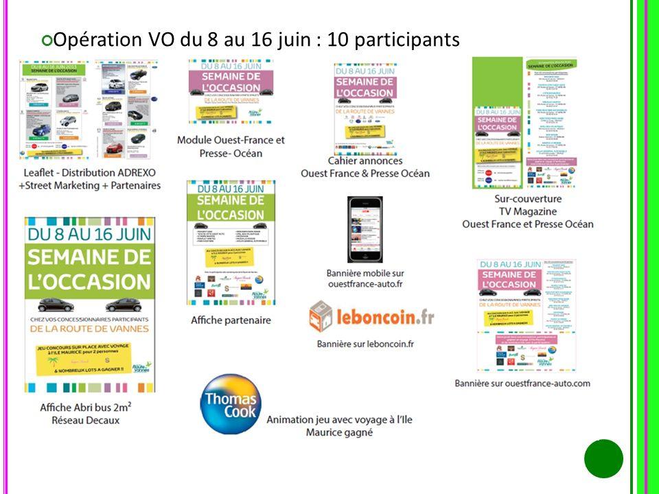 Opération VO du 8 au 16 juin : 10 participants