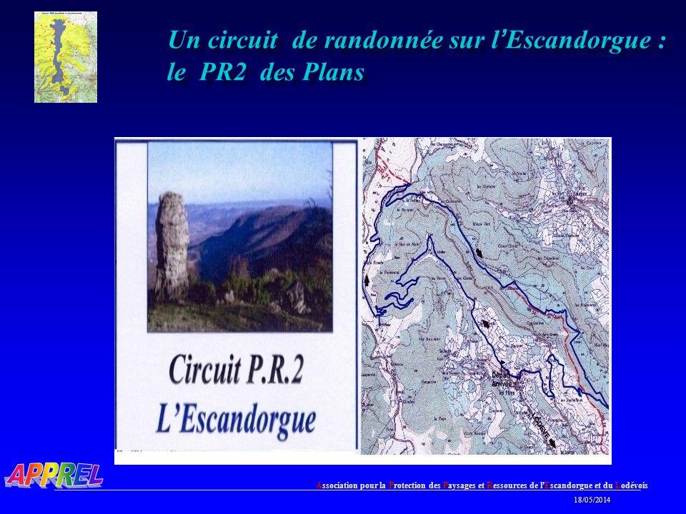 Association pour la Protection des Paysages et Ressources de l Escandorgue et du Lodévois 18/05/2014 18/05/2014 Un circuit de randonnée sur l Escandorgue : le PR2 des Plans