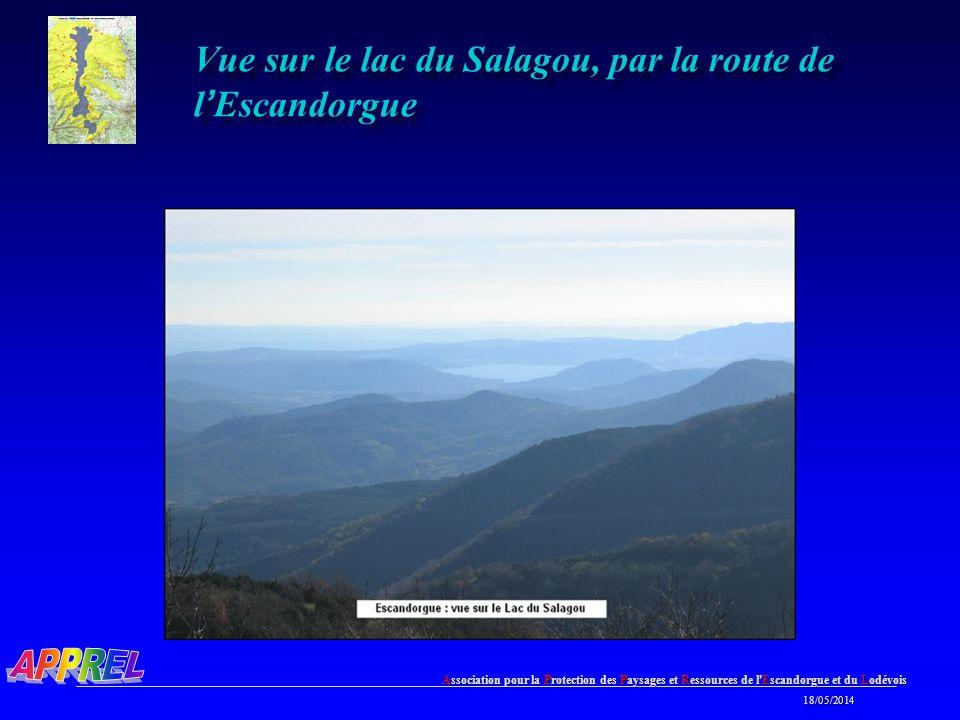 Association pour la Protection des Paysages et Ressources de l Escandorgue et du Lodévois 18/05/2014 18/05/2014 Vue sur le lac du Salagou, par la route de l Escandorgue