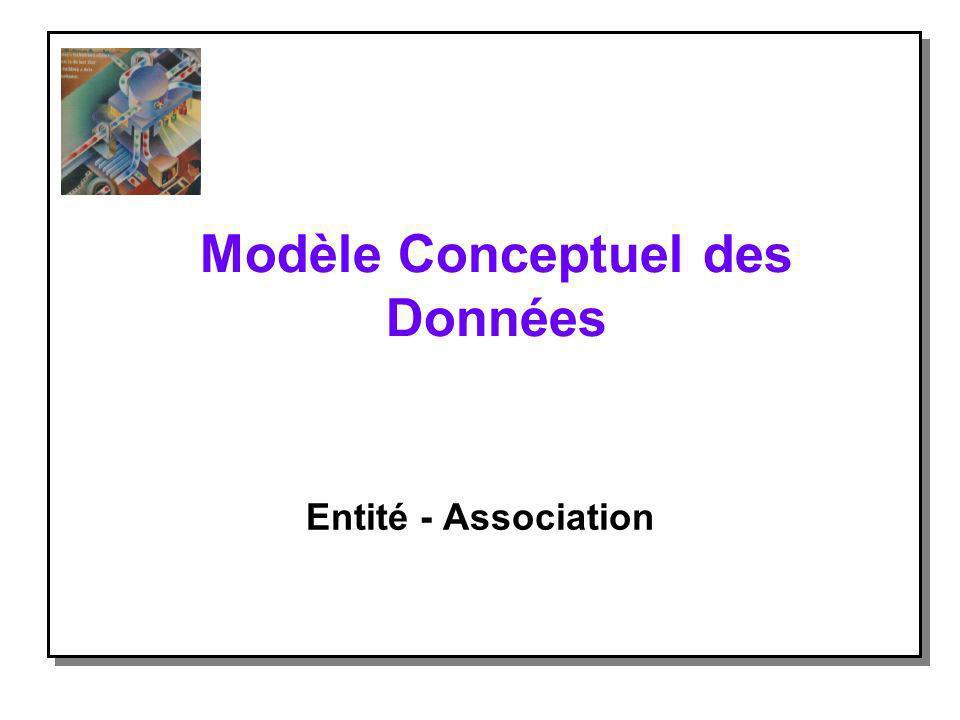 Modèle Conceptuel des Données Entité - Association