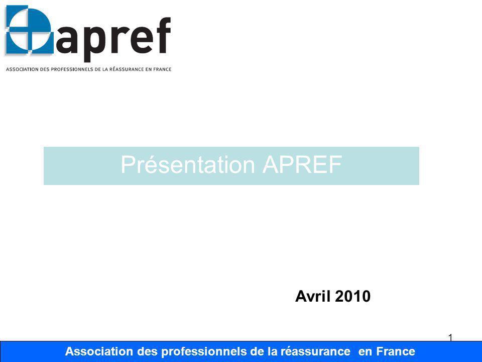 Association des Professionnels de la Réassurance en France 12 Association des professionnels de la réassurance en France Organisation Organisation Bureau Président F.
