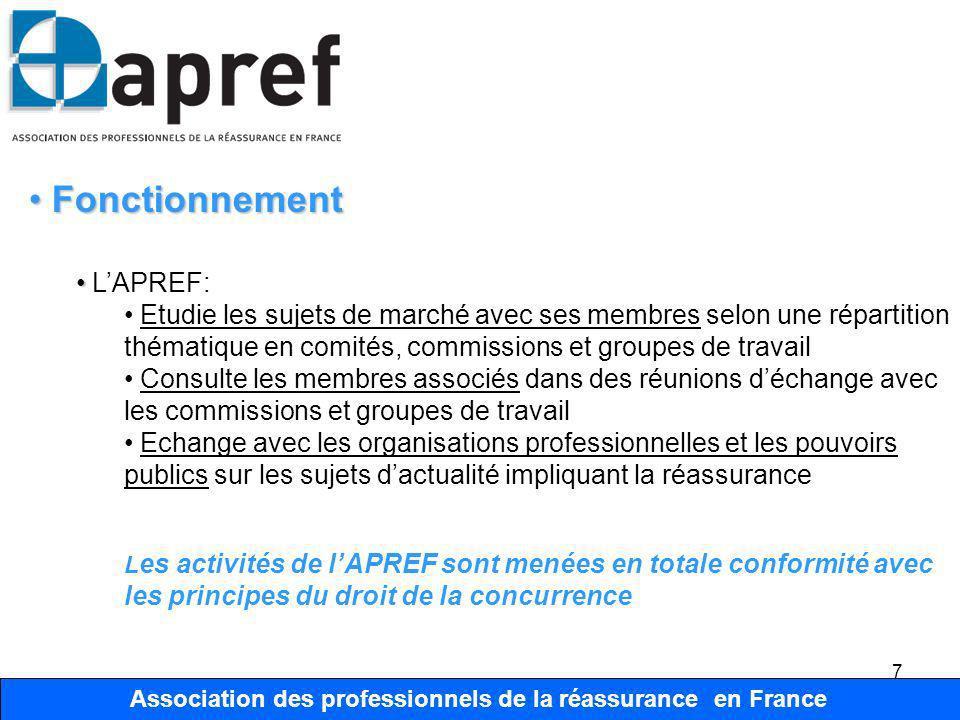 Association des Professionnels de la Réassurance en France 18 Association des professionnels de la réassurance en France Organisation Organisation Comité place de Paris et International Président JL.