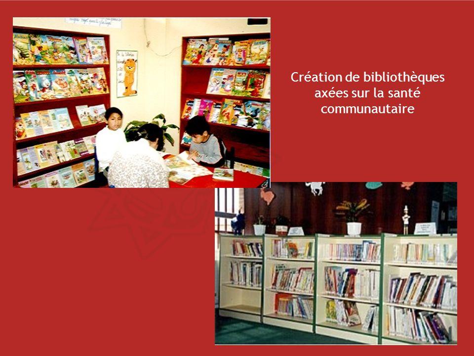 Création de bibliothèques axées sur la santé communautaire