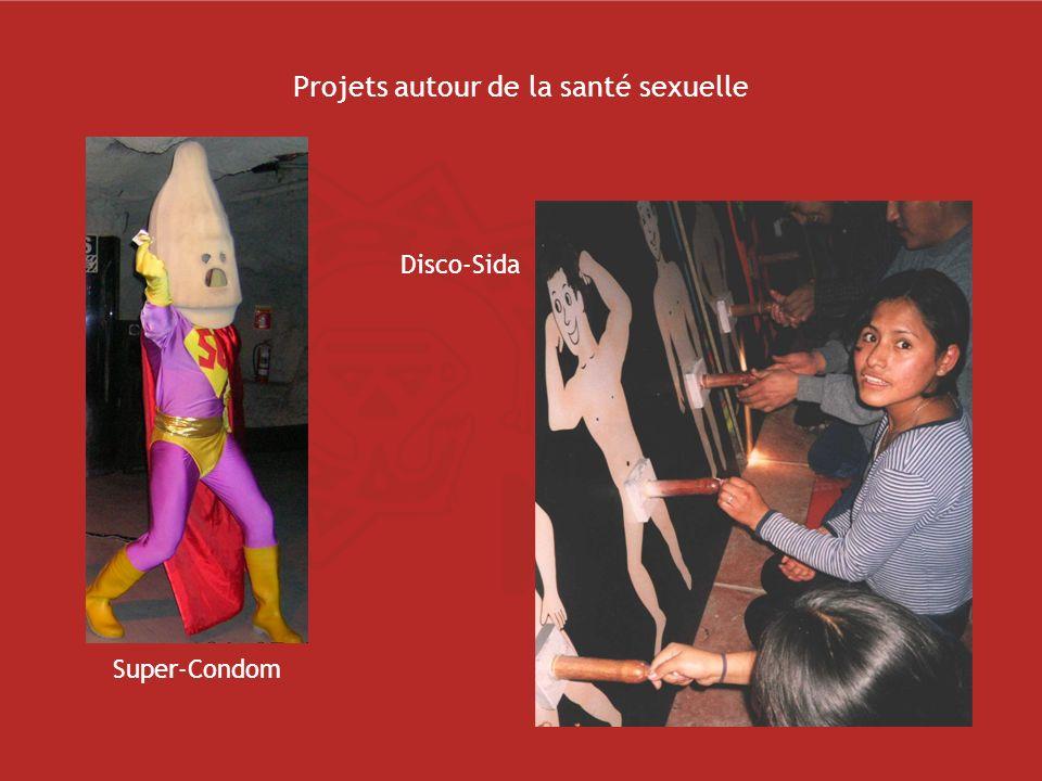 Projets autour de la santé sexuelle Super-Condom Disco-Sida