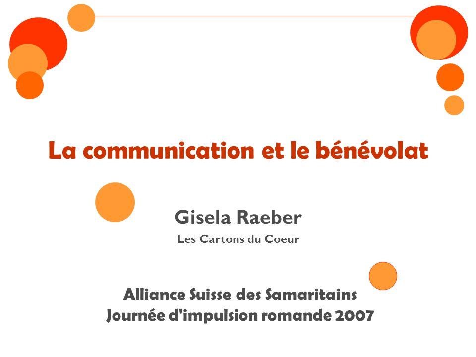 Les sujets Réflexion sur la Communication Les Cartons du Cœur Les Outils de la Communication Les défis du bénévolat Pourquoi faire du bénévolat Un exercice Le mot de la fin