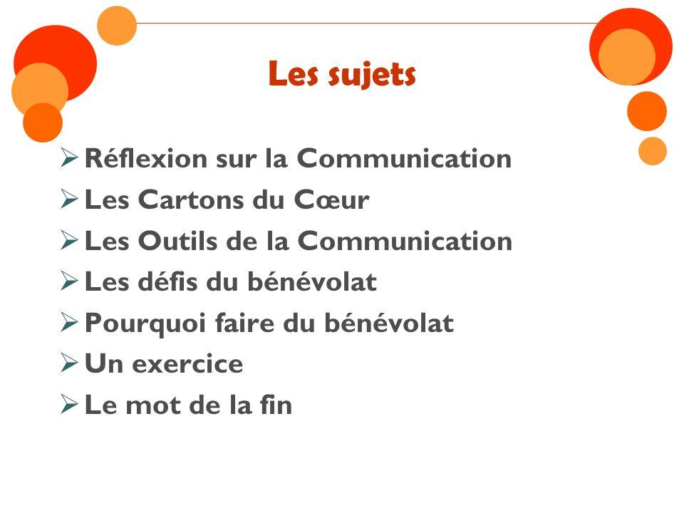 La Communication COMMUNICATION UNIONCOMMUNION AMI ACTION COMMUN UNI