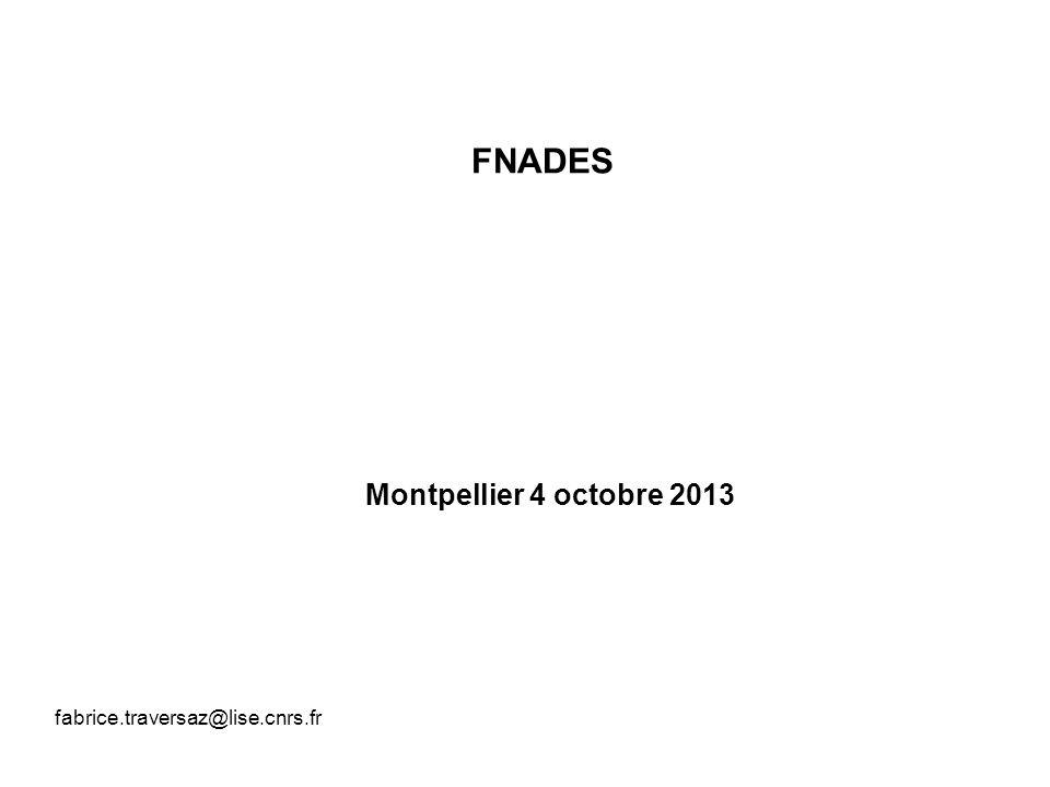 FNADES Montpellier 4 octobre 2013 fabrice.traversaz@lise.cnrs.fr