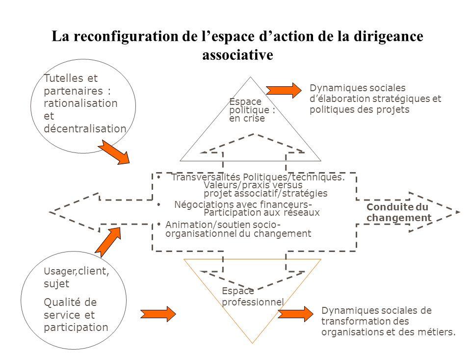 Transversalités Politiques/techniques. Valeurs/praxis versus projet associatif/stratégies Négociations avec financeurs- Participation aux réseaux Anim