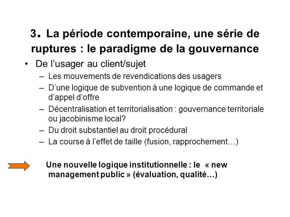 Les associations à lépreuve du changement Gouvernance comme héritage Institutionnel Refondation ou dissolution associative :, agent ou partenaire .