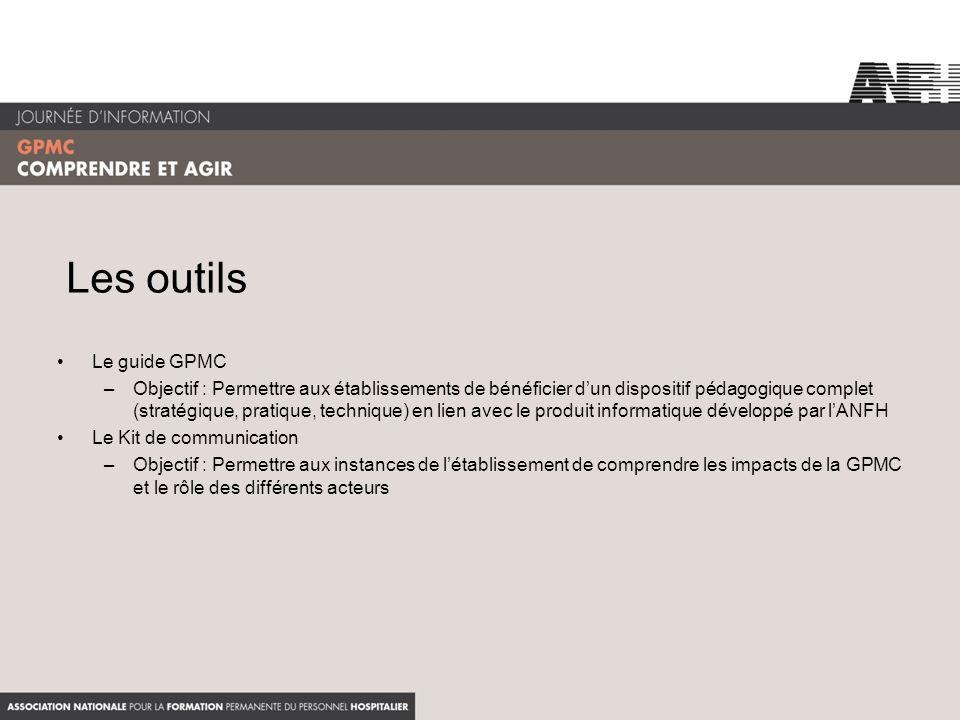 Les outils Le guide GPMC –Objectif : Permettre aux établissements de bénéficier dun dispositif pédagogique complet (stratégique, pratique, technique)