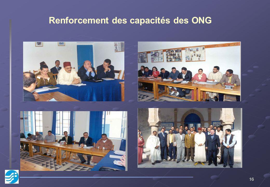 16 Renforcement des capacités des ONG