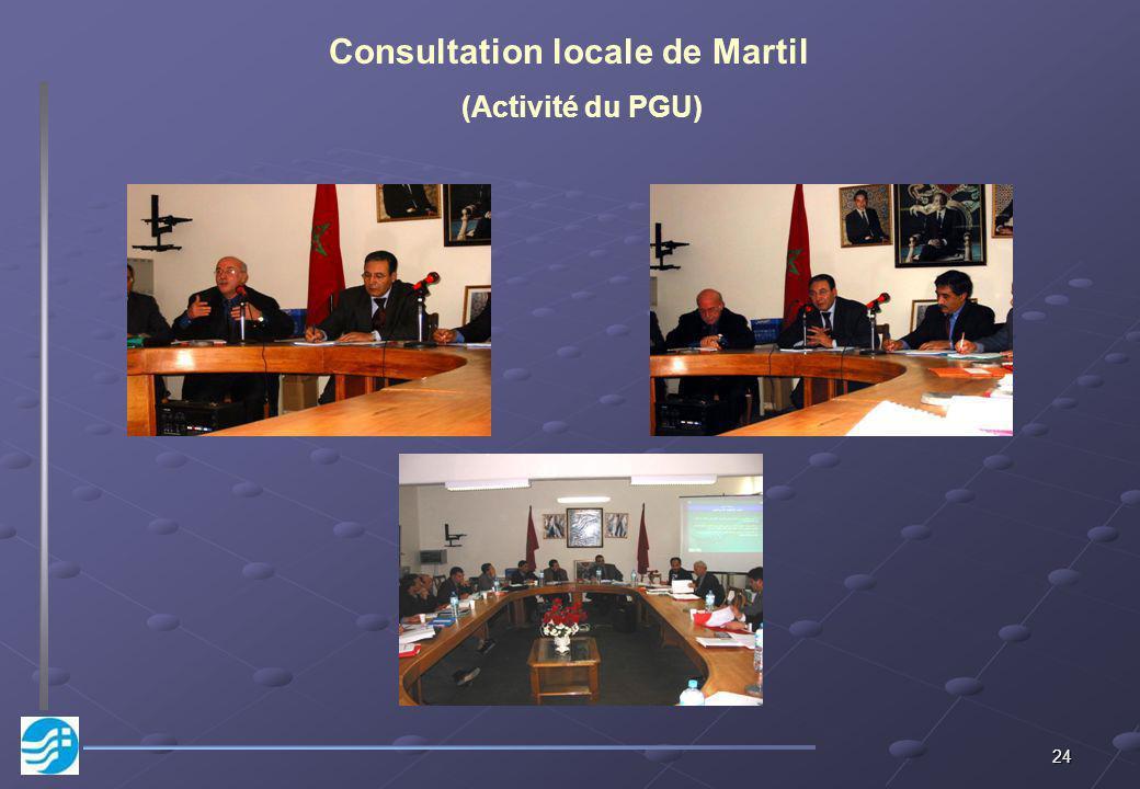 24 Consultation locale de Martil (Activité du PGU)