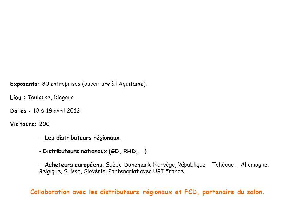 Exposants: 80 entreprises (ouverture à lAquitaine).