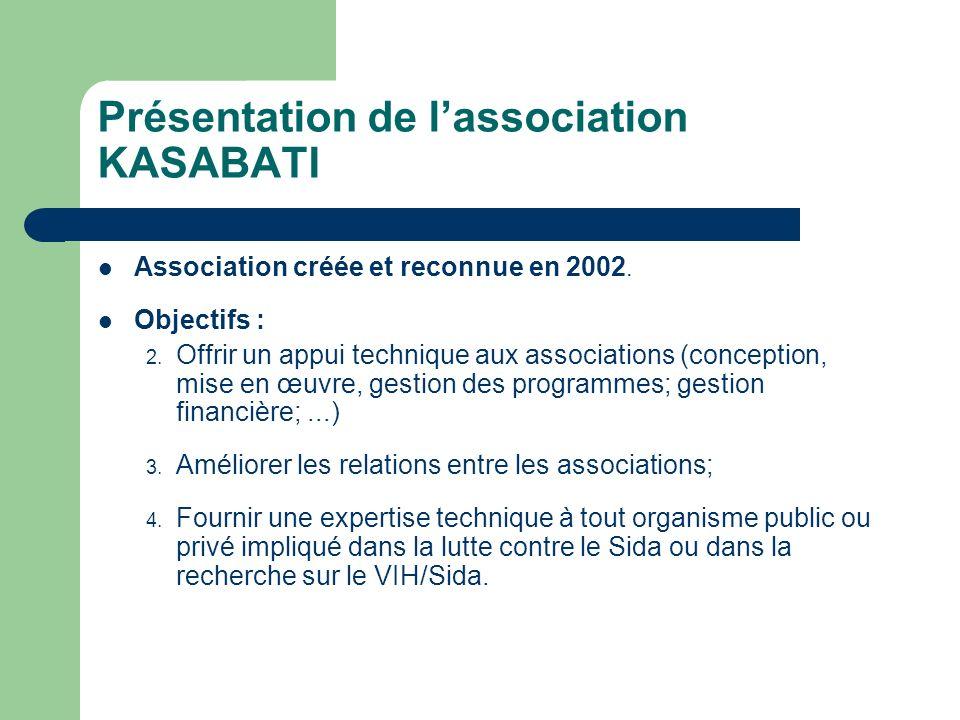 Présentation de lassociation KASABATI Association créée et reconnue en 2002.