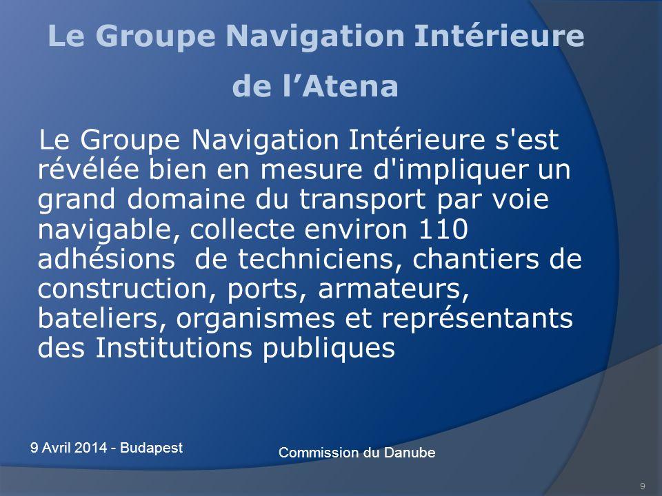 9 Le Groupe Navigation Intérieure de lAtena Le Groupe Navigation Intérieure s'est révélée bien en mesure d'impliquer un grand domaine du transport par