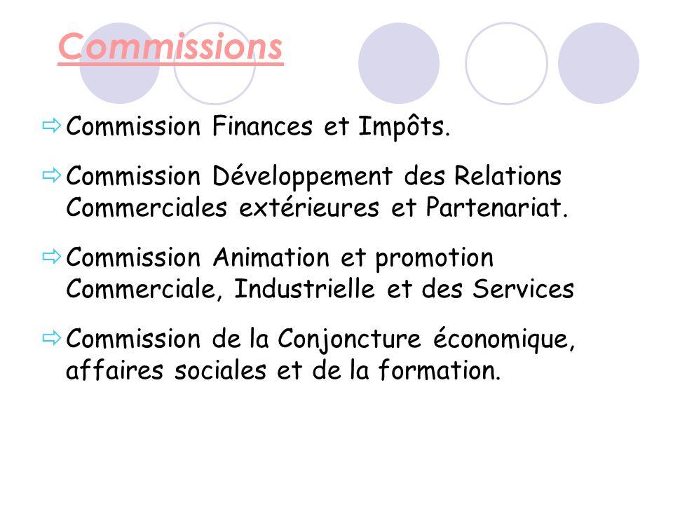 Commissions Commission Finances et Impôts.