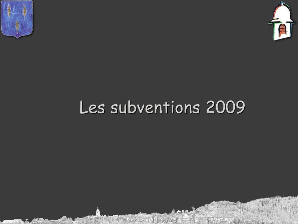 Les subventions 2009