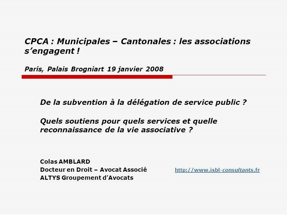 CPCA : Municipales – Cantonales : les associations sengagent .