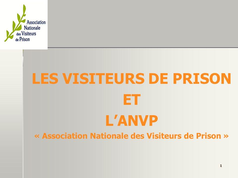Les visiteurs de prison et lANVP.