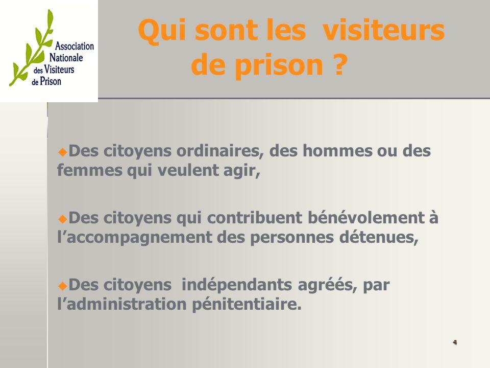 Pourquoi des visiteurs dans les prisons .