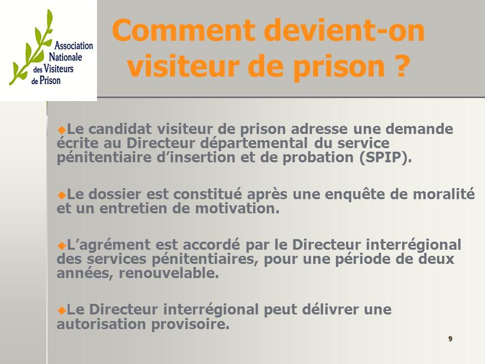 Pourquoi une association des visiteurs de prison.