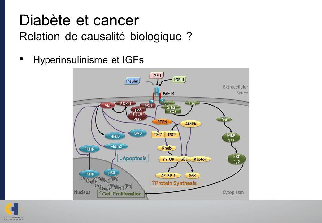 Diabète et cancer Relation de causalité biologique ? Hyperinsulinisme et IGFs