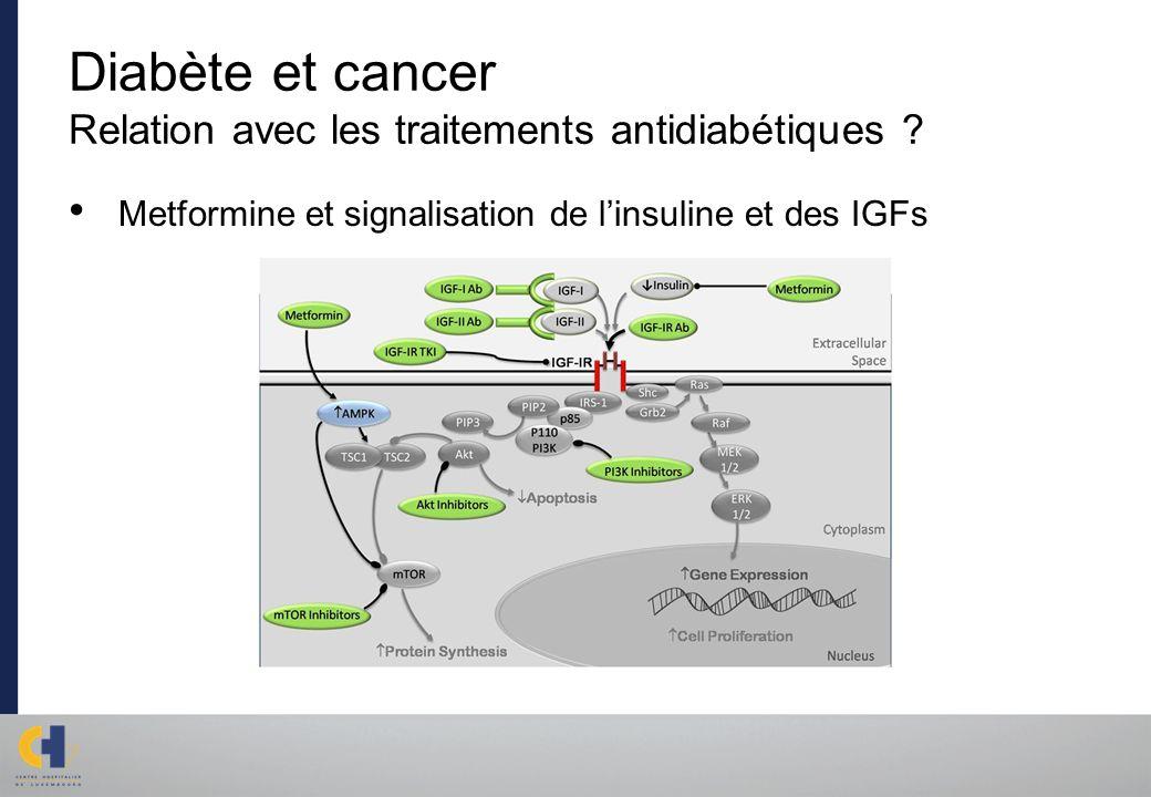 Diabète et cancer Relation avec les traitements antidiabétiques ? Metformine et signalisation de linsuline et des IGFs