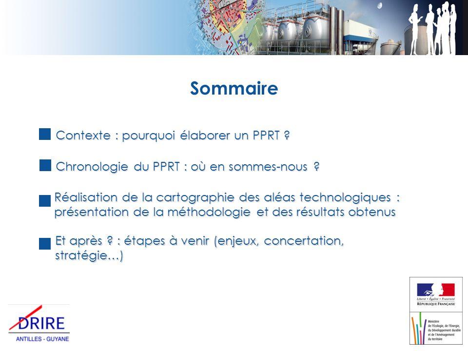Sommaire Contexte : pourquoi élaborer un PPRT . Chronologie du PPRT : où en sommes-nous .