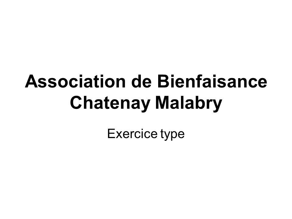 Association de Bienfaisance Chatenay Malabry Exercice type