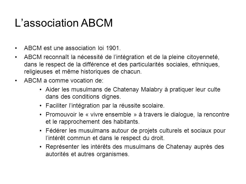 ABCM est une association loi 1901.