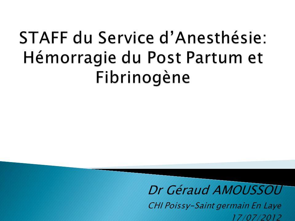 Dr Géraud AMOUSSOU CHI Poissy-Saint germain En Laye 17/07/2012