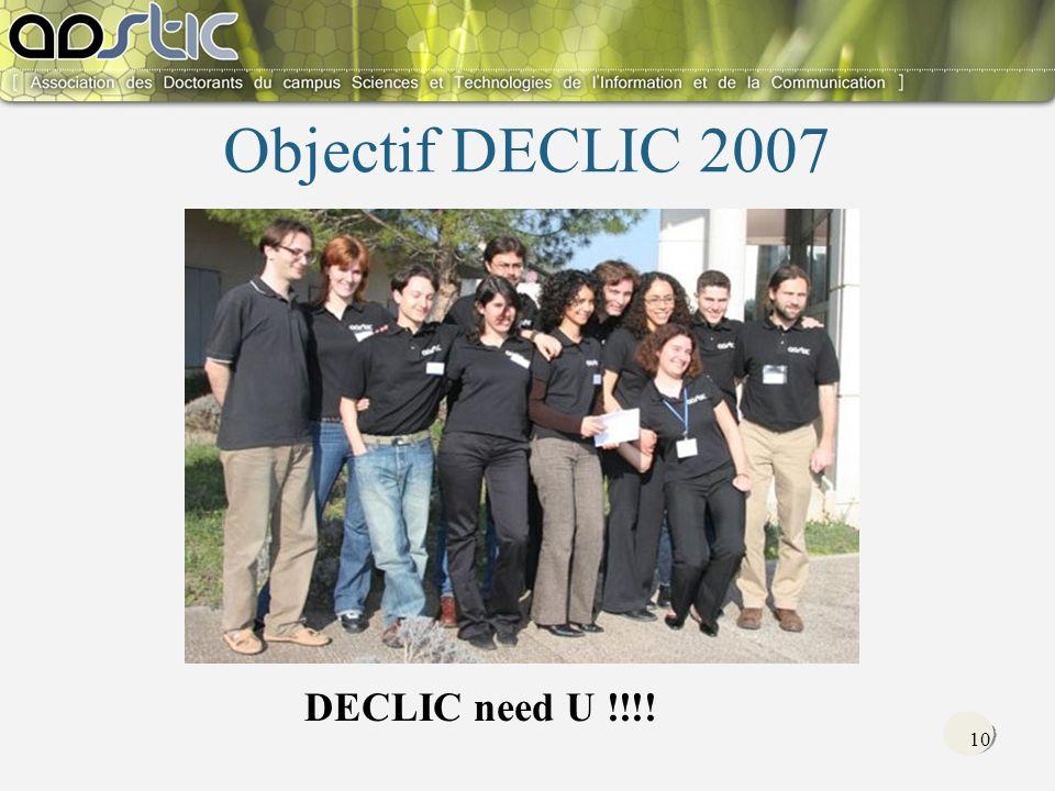 10 Objectif DECLIC 2007 DECLIC need U !!!!