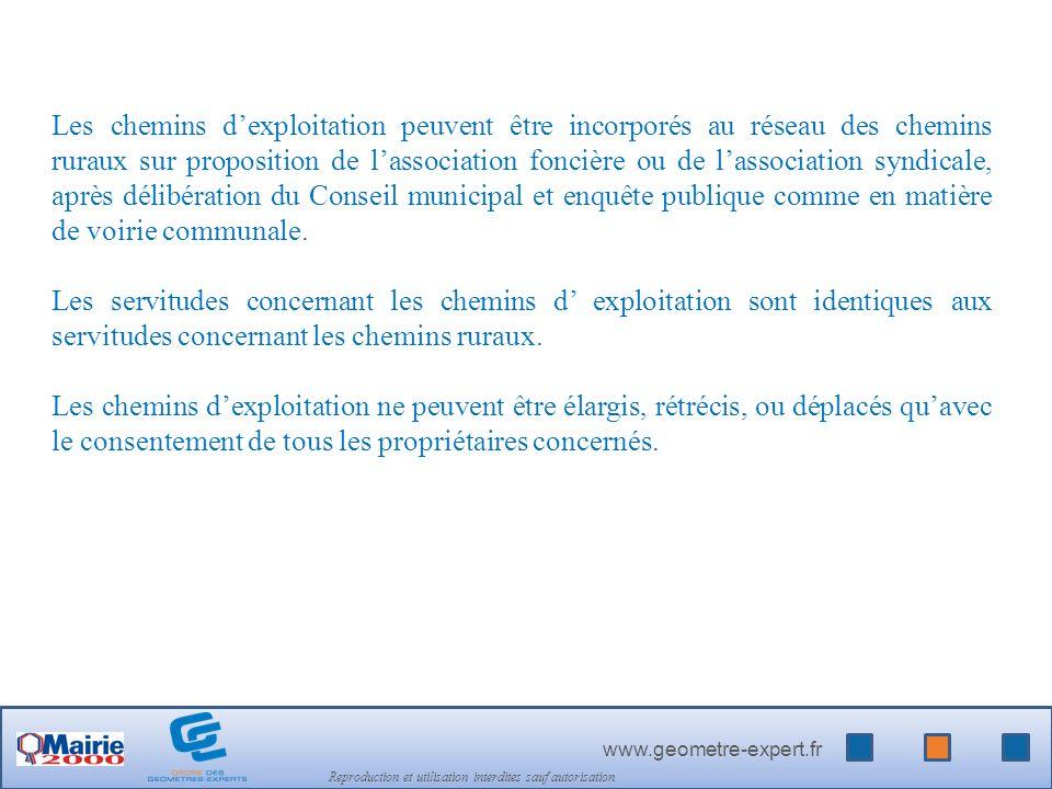www.geometre-expert.fr Reproduction et utilisation interdites sauf autorisation LES CHEMINS DE HALAGE ET DE MARCHEPIED