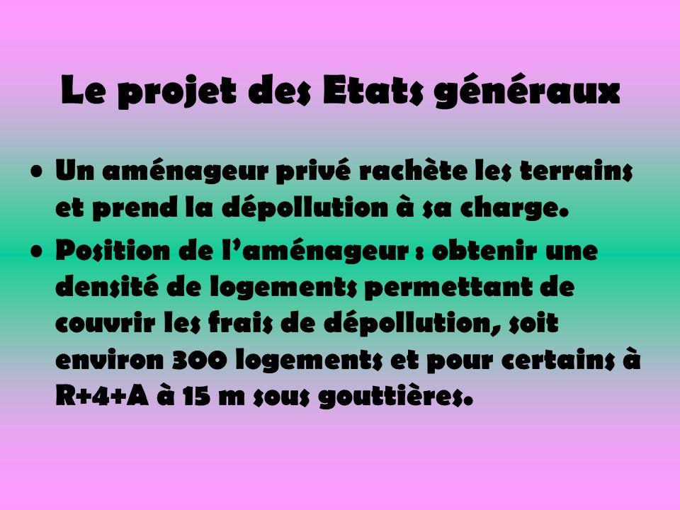 Le projet des Etats généraux Un aménageur privé rachète les terrains et prend la dépollution à sa charge.
