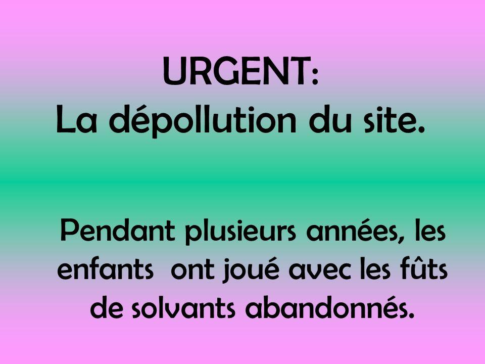 URGENT: La dépollution du site.