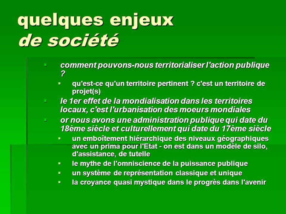 quelques enjeux de société comment pouvons-nous territorialiser l'action publique ? comment pouvons-nous territorialiser l'action publique ? qu'est-ce