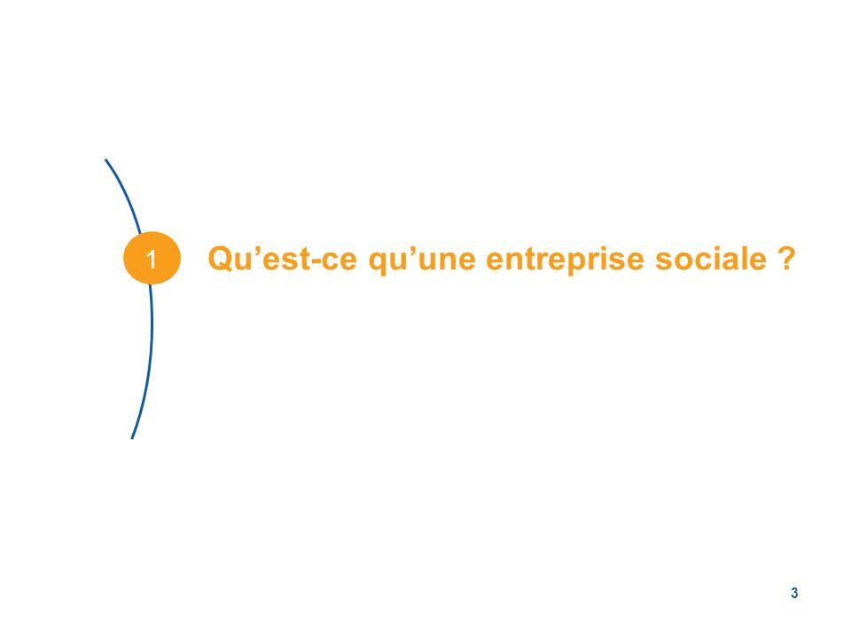 3 Quest-ce quune entreprise sociale ? 1