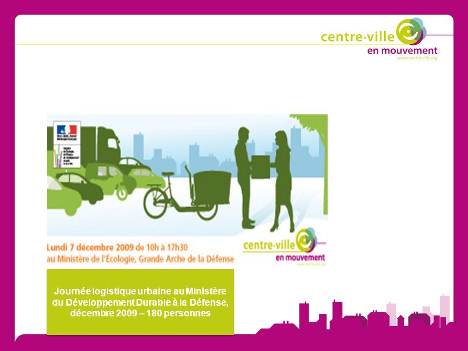 Journée logistique urbaine au Ministère du Développement Durable à la Défense, décembre 2009 – 180 personnes