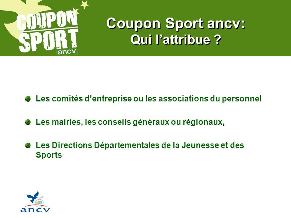 Coupon Sport ancv: Qui lattribue .
