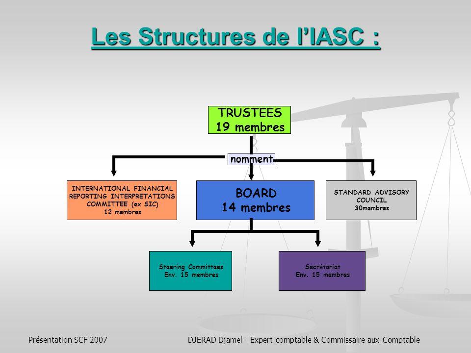 Présentation SCF 2007DJERAD Djamel - Expert-comptable & Commissaire aux Comptable هيكليـــــــــة اللجنــــــــــة